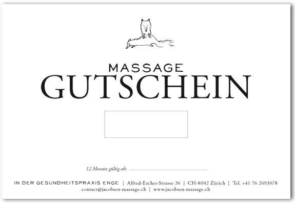 Massagegutschein Zürich